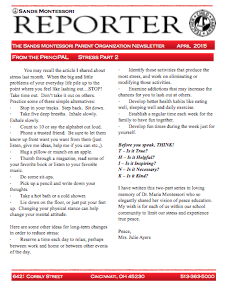 Sands Reporter – May 2015