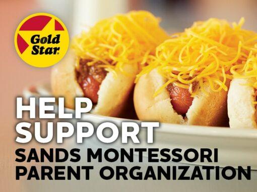 Sands Montessori Parent Organization Gold Star One Day Online Fundraiser | December 3